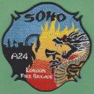 London Fire Brigade Soho Station 24 Company Patch