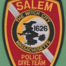 Salem Massachusetts Police Dive Team Patch