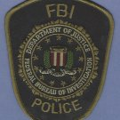FBI Federal Bureau of Investigation Police Patch SUBDUED