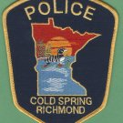 Cold Spring-Richmond Minnesota Police Patch