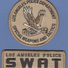 Los Angeles California LAPD Police SWAT Team Patch Set TAN