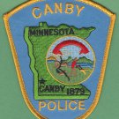 Canby Minnesota Police Patch