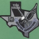 Texas Rangers Public Safety SWAT Team Police Patch Gray