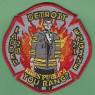 Detroit Fire Department Engine 21 Ladder 28 Company Fire Patch