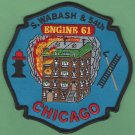 Chicago Fire Department Engine Company 61 Fire Patch