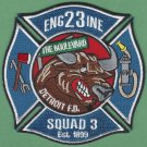 Detroit Fire Department Engine 23 Squad 3 Company Fire Patch