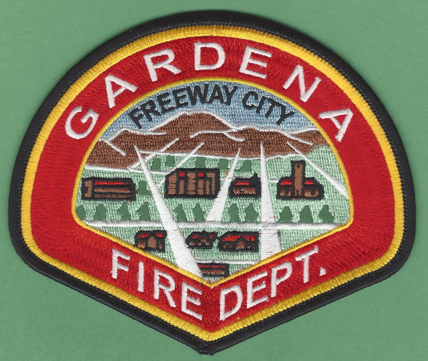 Gardena California Fire Rescue Patch