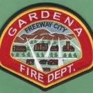 Gardena California Fire Rescue Patch