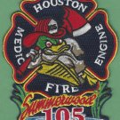 Houston Fire Department Station 105 Company Patch