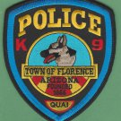 Florence Arizona Police K-9 Unit Patch
