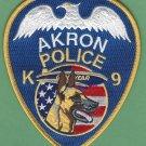 Akron Ohio Police K-9 Unit Patch