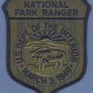 United States National Park Ranger Patch Green