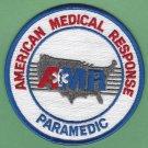 AMR American Medical Response Paramedic Patch WHITE