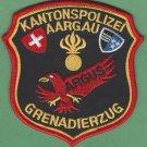 Kantonpolizei Aargau Switzerland Police Helicopter Unit Patch