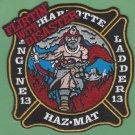 Charlotte Fire Department Engine 13 Ladder 13 Haz Mat Fire Company Patch