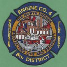 Manchester Connecticut Engine Company 4 Fire Patch