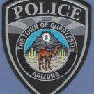 Quartzite Arizona Police Patch