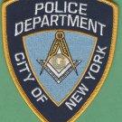 New York City Police Masonic Lodge Patch