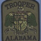 Alabama State Trooper Tactical Green Police Patch