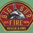 Big Sur California Fire Rescue Patch