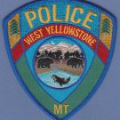 West Yellowstone Wyoming Police Patch