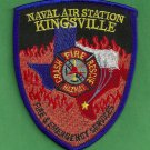 Kingsville Naval Air Station Texas Crash Fire Rescue Patch