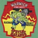 Warwick Rhode Island Heavy Rescue Squad Fire Company Patch