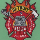 Detroit Fire Department Engine 18 Ladder 10 Company Fire Patch