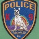 Goodyear Arizona Police K-9 Unit Patch