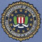 "FBI Federal Bureau of Investigation DOJ Seal Patch 3.25"""