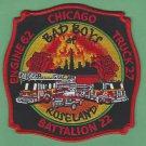 Chicago Fire Department Engine 62 Truck 27 Battalion 22 Fire Patch