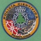 Pamplona Spain Policia Cientifica CSI Police Patch