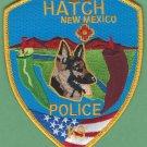 Hatch New Mexico Police K-9 Unit Patch Chili Capital