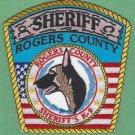 Rogers County Sheriff Oklahoma Police K-9 Unit Patch
