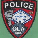 Ola Arkansas Police Patch