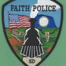 Faith South Dakota Police Patch Locomotive
