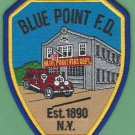 Blue Point New York Fire Patch