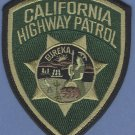 California Highway Patrol Police Patch Tactical Green