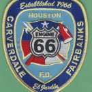 Houston Fire Department Engine Company 66 Patch