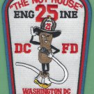 District of Columbia Fire Department Engine Company 25 Fire Patch The Nut House
