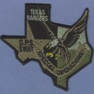 Texas Rangers Public Safety SWAT Team Police Patch Green