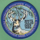 Pennsylvania Game Commission 1989  White Tail Deer Series Hunting Patch