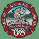 Los Angeles County Fire Department Engine 68 Squad 68 Company Patch