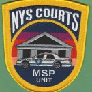 New York State Courts Police Mobile Security Patrol Patch