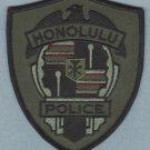 Honolulu Hawaii Police Patch Tactical Green