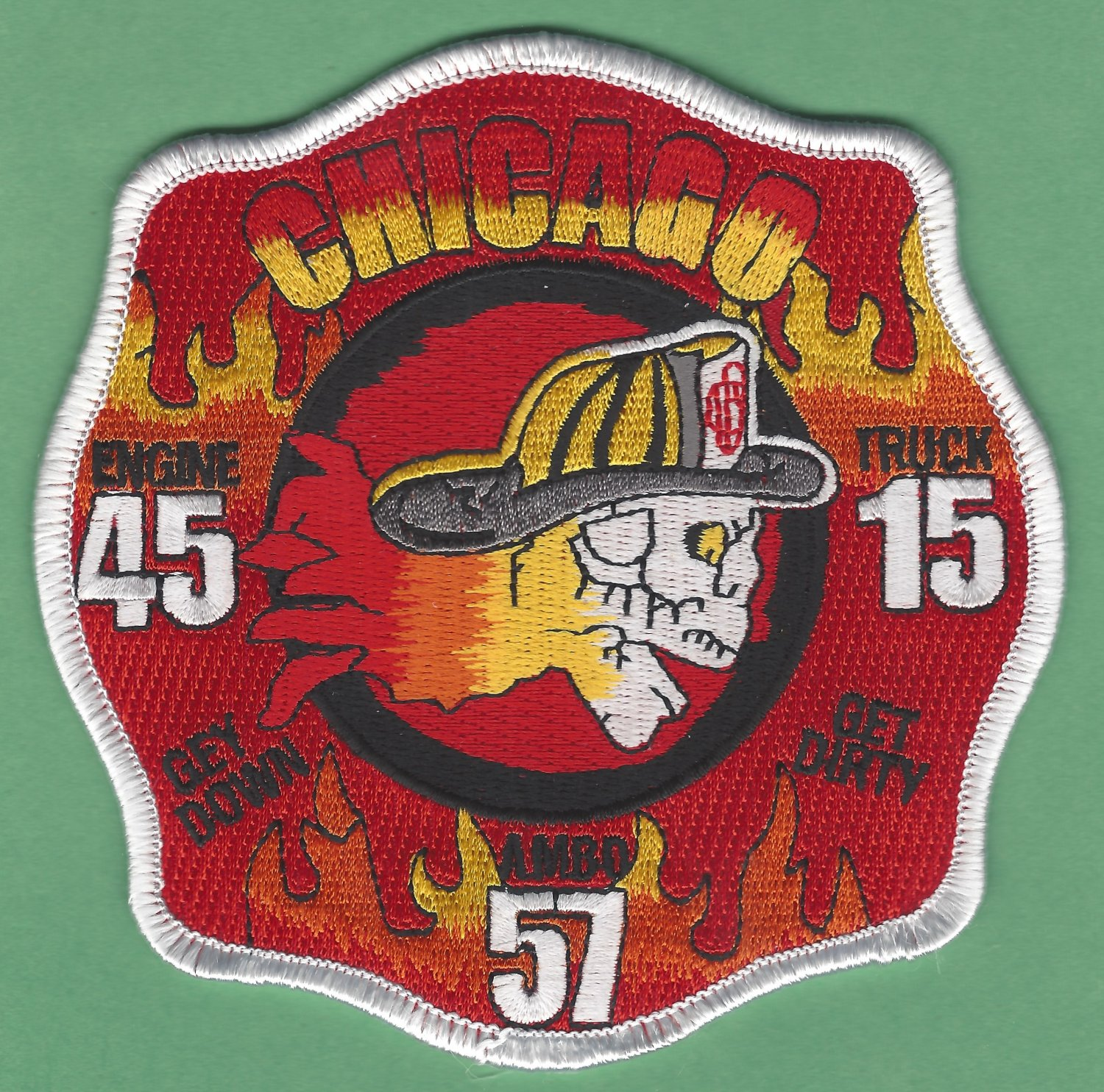 Chicago Fire Department Engine 45 Truck 15 Fire Company Patch