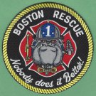 Boston Fire Department Rescue Company 1 Patch