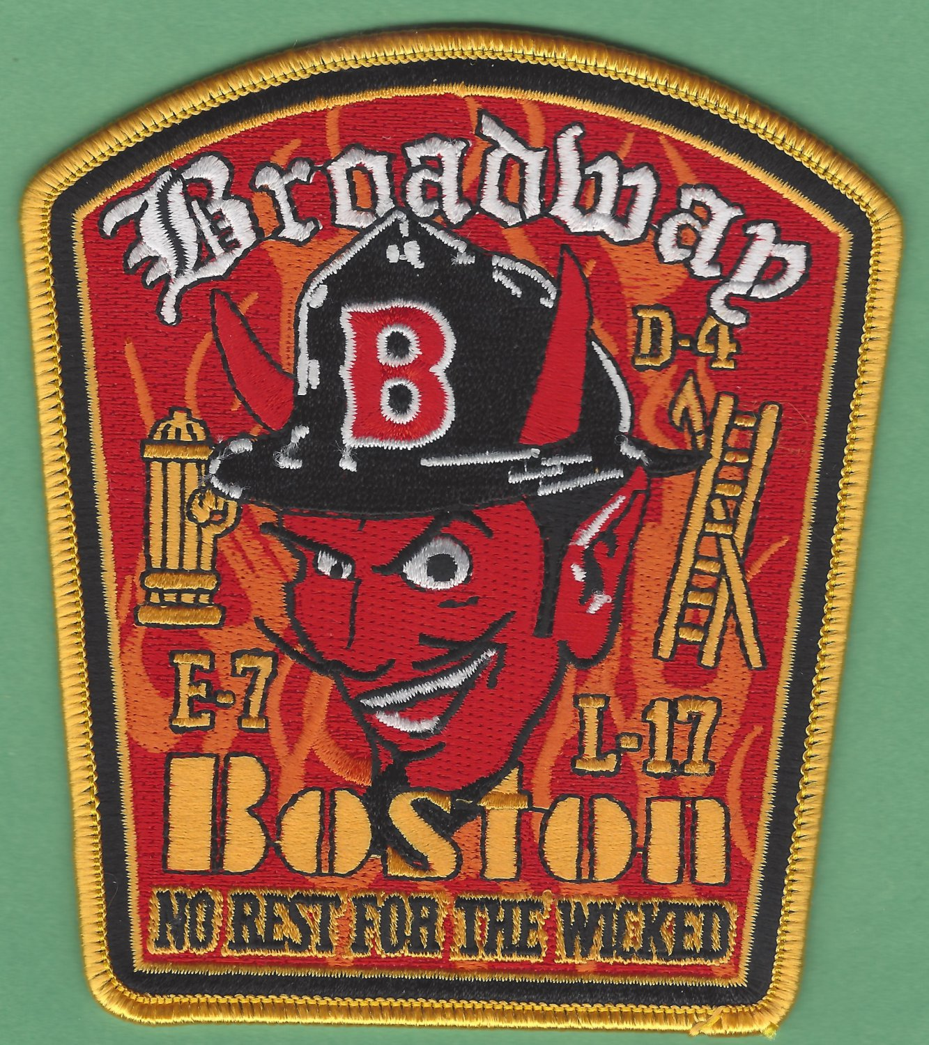 Boston Fire Department Engine 7 Ladder 17 Company Patch