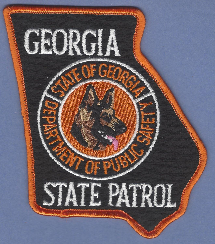 Georgia State Patrol K-9 Unit Patch