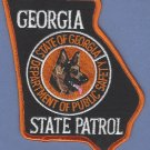 Georgia State Patrol K-9 Unit Patch
